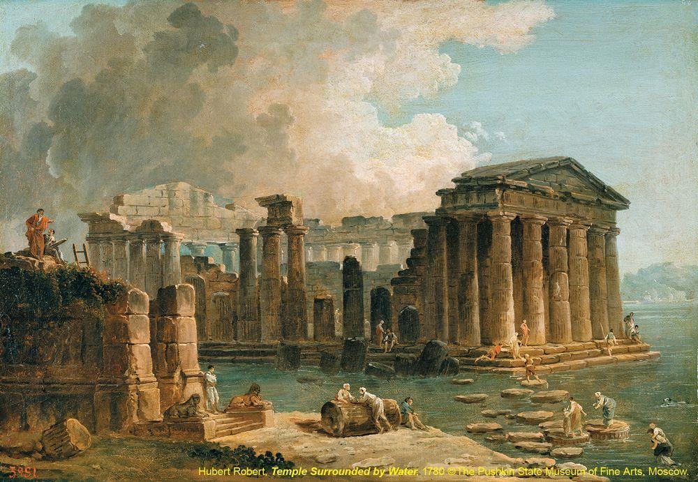 1 近代風景畫的起源-被水環繞的神殿