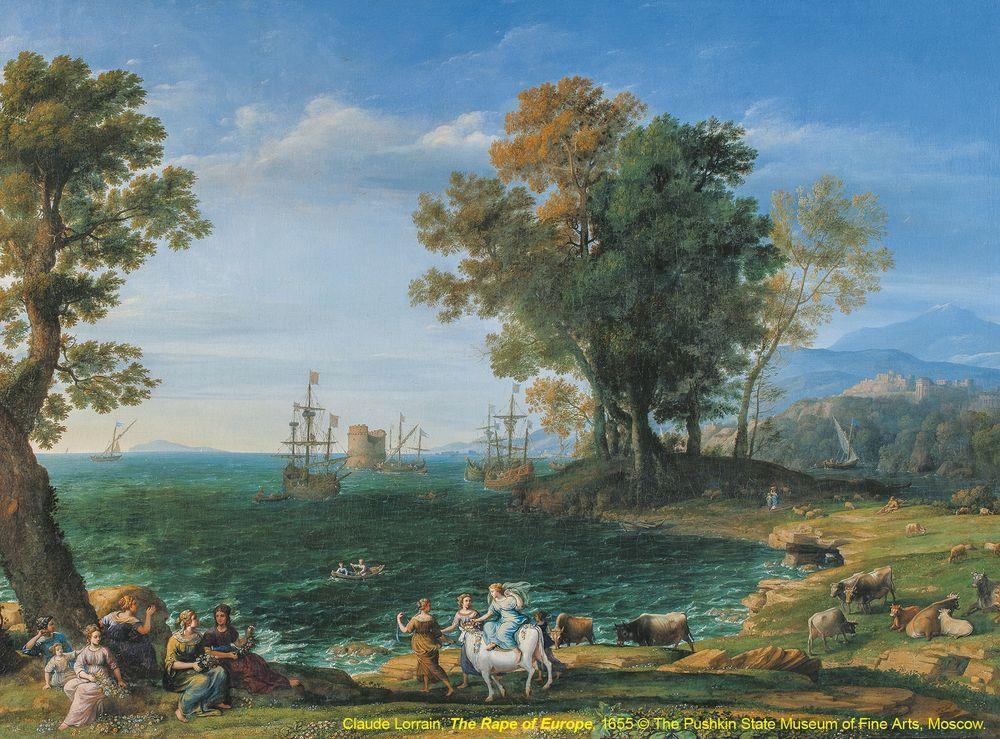 2 近代風景畫的起源-擄掠歐羅芭