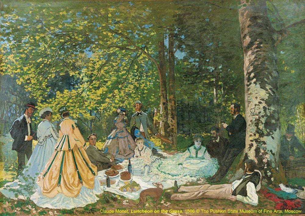 6 巴黎近郊的自然景色-草地上的午餐