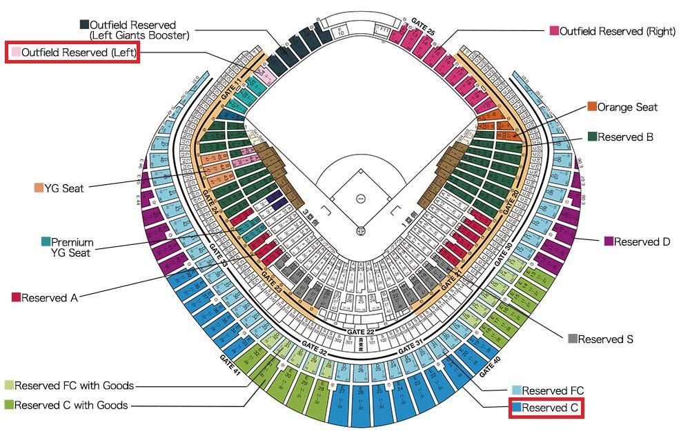 球場座位圖